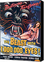 1955 Movies Canvas Prints - The Beast With A Million Eyes, 1955 Canvas Print by Everett