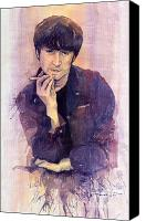 Beatles Canvas Prints - The Beatles John Lennon Canvas Print by Yuriy  Shevchuk