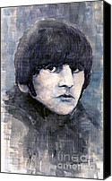 Star Canvas Prints - The Beatles Ringo Starr Canvas Print by Yuriy  Shevchuk