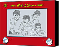 Etch Canvas Prints - The Beatles Canvas Print by Ron Magnes