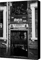 Liverpool England Canvas Prints - The Beatles Shop In Mathew Street In Liverpool City Centre Birthplace Of The Beatles Merseyside  Canvas Print by Joe Fox