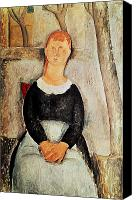 Modigliani Canvas Prints - The Beautiful Grocer Canvas Print by Amedeo Modigliani