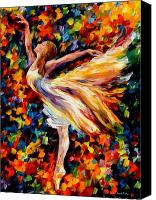 Afremov Canvas Prints - The Beauty Of Dance Canvas Print by Leonid Afremov