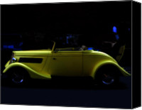 Classic Automobiles Canvas Prints - The Beauty of Yellow Canvas Print by Steven  Digman