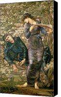 Myths Canvas Prints - The Beguiling of Merlin Canvas Print by Sir Edward Burne-Jones
