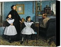 Portraits Canvas Prints - The Bellelli Family Canvas Print by Edgar Degas