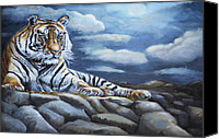 All Canvas Prints - The Bengal Tiger Canvas Print by Enzie Shahmiri