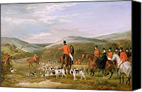Dogs Canvas Prints - The Berkeley Hunt Canvas Print by Francis Calcraft Turner