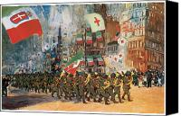 Parade Painting Canvas Prints - The Bersaglieri Canvas Print by George Benjamin Luks