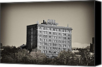 Hotel Digital Art Canvas Prints - The Bethlehem Hotel Canvas Print by Bill Cannon