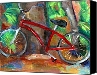 Susan Hanlon Canvas Prints - The Bicycle Canvas Print by Susan Hanlon