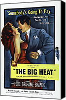 1950s Poster Art Canvas Prints - The Big Heat, Gloria Grahame, Glenn Canvas Print by Everett