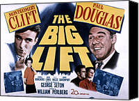 1950 Movies Canvas Prints - The Big Lift, Montgomery Clift, Paul Canvas Print by Everett