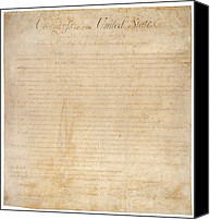 Democracy Canvas Prints - The Bill Of Rights. The First Ten Canvas Print by Everett