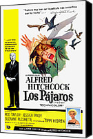 1960s Poster Art Canvas Prints - The Birds, Aka Los Pajaros, Alfred Canvas Print by Everett