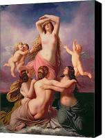Putti Painting Canvas Prints - The Birth of Venus Canvas Print by Eduard Steinbruck