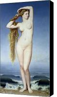 Venus Canvas Prints - The Birth of Venus Canvas Print by Eugene Emmanuel Amaury Duval