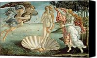 Venus Canvas Prints - The Birth of Venus Canvas Print by Sandro Botticelli