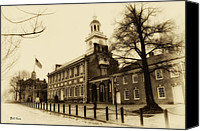 Independence Hall Canvas Prints - The Birthplace of Freedom Canvas Print by Bill Cannon