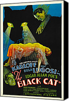 Horror Fantasy Movies Photo Canvas Prints - The Black Cat, Boris Karloff, Harry Canvas Print by Everett