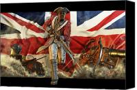 Flag Mixed Media Canvas Prints - The Black Loyalist Canvas Print by Kurt Miller