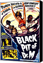 1950s Poster Art Canvas Prints - The Black Pit Of Dr. M, Aka Misterios Canvas Print by Everett
