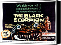 1950s Poster Art Canvas Prints - The Black Scorpion, On Right Mara Canvas Print by Everett