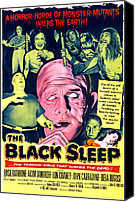 1950s Poster Art Canvas Prints - The Black Sleep, Center George Sawaya Canvas Print by Everett