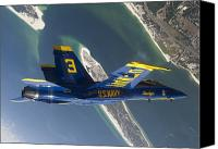 Demonstration Photo Canvas Prints - The Blue Angels Perform A Looping Canvas Print by Stocktrek Images