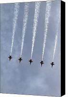 Demonstration Canvas Prints - The Blue Angels Perform Aerial Canvas Print by Stocktrek Images