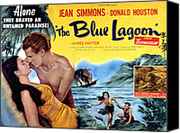 1949 Movies Canvas Prints - The Blue Lagoon, Jean Simmons, Donald Canvas Print by Everett