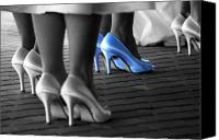 Bridesmaid Canvas Prints - The Blue Shoes Canvas Print by Emily Stauring