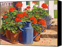 Signed Canvas Prints - The blue watering can Canvas Print by Anthony Rule 