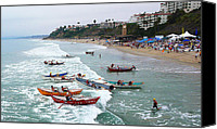 San Clemente Canvas Prints - The Boat Race Canvas Print by Ron Regalado