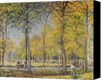 Impressionism Canvas Prints - The Bois de Boulogne Canvas Print by Alfred Sisley