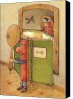 Reading Canvas Prints - The Book reading himself Canvas Print by Kestutis Kasparavicius