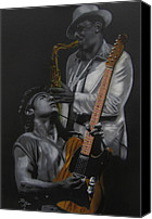 E Street Band Canvas Prints - The Boss and The Big Man Canvas Print by Thomas J Herring