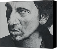 E Street Band Canvas Prints - The Boss Canvas Print by Joan Pollak