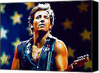Springsteen Canvas Prints - The Boss Canvas Print by John Travisano