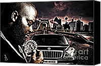 Maybach Music Canvas Prints - The Boss Canvas Print by The DigArtisT