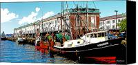 Copper Harbor Canvas Prints - The Boston Fish Pier Canvas Print by Michelle Wiarda