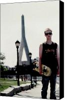 Kevin Callahan Canvas Prints - The Boston Skate Punk Canvas Print by Kevin Callahan