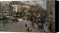 Crowd Scene Canvas Prints - The Boulevard des Italiens Canvas Print by Jean Francois Raffaelli