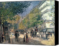 Talking Canvas Prints - The Boulevards  Canvas Print by Pierre Auguste Renoir
