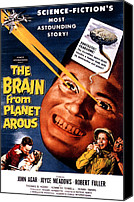 1950s Poster Art Canvas Prints - The Brain From Planet Arous, Center Canvas Print by Everett