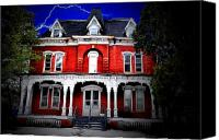 Haunted House Canvas Prints - The Brick Canvas Print by Emily Stauring