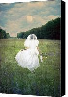 Bride Canvas Prints - The Bride Canvas Print by Joana Kruse