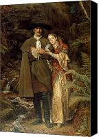 Wandering Canvas Prints - The Bride of Lammermoor Canvas Print by Sir John Everett Millais