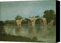 Ruin Painting Canvas Prints - The Bridge at Ambrussum Canvas Print by Gustave Courbet