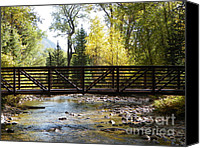 Mountain Glass Art Canvas Prints - The Bridge  Canvas Print by David Ackerson
